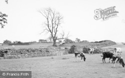 Gilsland, The Roman Wall, Birdoswald c.1950