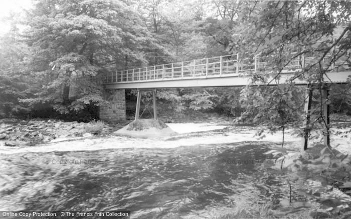 Photo of Gilsland, The Spa Well Footbridge c.1955