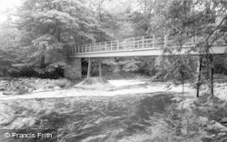 Gilsland, The Spa Well Footbridge c.1955