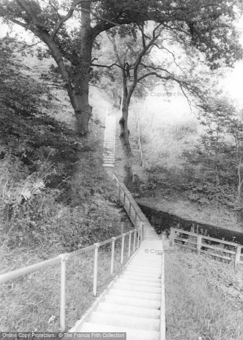 Photo of Gilsland, The Steps To The Poltross Milecastle c.1955