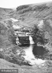 Gilsland, The Waterfall c.1950