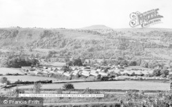 Gilwern, Looking Across The Usk Valley c.1955