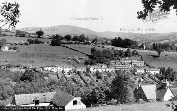 Photo of Gilwern, Maesgwartha with Table Mountain in Background c1955