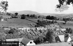 Gilwern, Maesgwartha With Table Mountain In Background c.1955