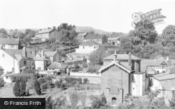 Gilwern, Old Crickhowell Road Area From New Bridge c.1955