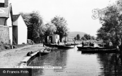 Gilwern, Pleasure Boats On The Canal c.1955