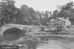 Mill Bridge And House c.1960, Gisburn