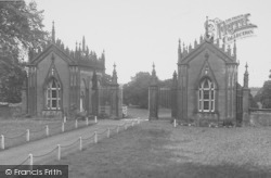 The Lodge Gates c.1955, Gisburn