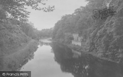 The River Ribble And Old Kennels 1921, Gisburn