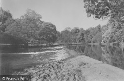 The River Ribble Weir c.1950, Gisburn