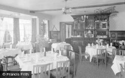 Glasbury On Wye, Maesllwch Arms Hotel, The Dining Room 1963