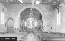 Glasbury On Wye, The Church, Interior c.1939