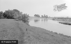 Glasbury On Wye, The River 1960