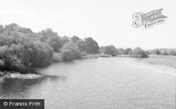 Glasbury On Wye, The River Wye 1957