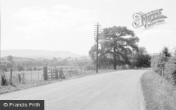 Glasbury On Wye, View From Hampton Road 1957