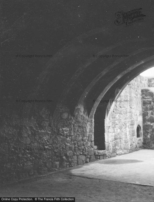 Photo of Glasgow, Crookston Castle,Transverse Arches Of Basement 1955