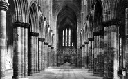 Glasgow, The Cathedral,  The Nave Looking East 1897