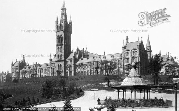 Photo of Glasgow, The University And Bandstand 1896
