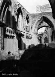 Glastonbury, Abbey 1952