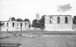 Glastonbury, Abbey And St John's Tower c.1955