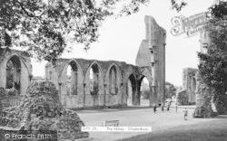 Glastonbury, Abbey c.1955