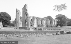 Glastonbury, Abbey From The South c.1960