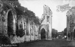 Glastonbury, Abbey Interior c.1874