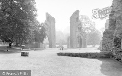 Glastonbury, Abbey Looking East c.1960