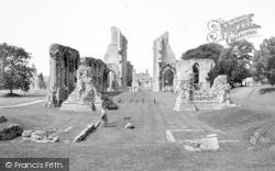 Glastonbury, Abbey Looking West c.1965