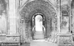 Glastonbury, Abbey, Norman Doorway c.1960