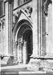 Glastonbury, Abbey, South Doorway Of Lady Chapel c.1955