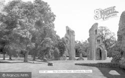 Glastonbury, Abbey, The Choir From West c.1955