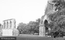 Glastonbury, Abbey, The Nave c.1955