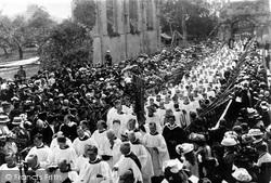 Glastonbury, Procession In The Abbey 1897
