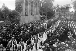 Glastonbury, Procession In The Abbey c.1910