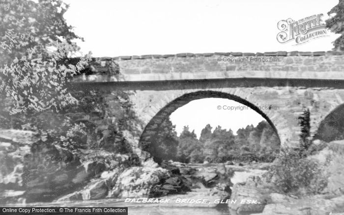 Photo of Glen Esk, Dalbrack Bridge c.1935