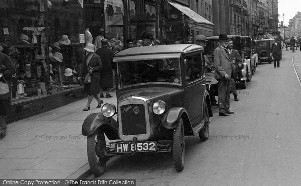 Photo of Gloucester, Austin Seven In Eastgate Street 1931