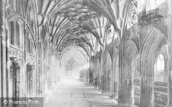 Gloucester, Cathedral, Cloister And Lavatorium c.1890