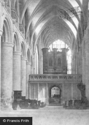 Gloucester, Cathedral, Nave East c.1869