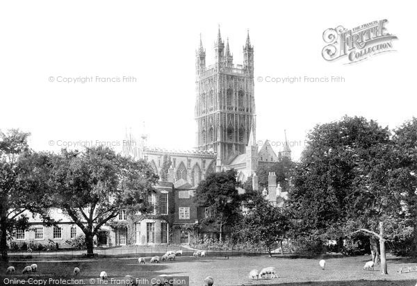 Gloucester, Cathedral north east 1891