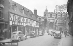 Gloucester, Cathedral, South Entrance From College Street 1949
