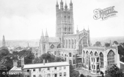 Gloucester, The Cathedral From St John's Church Tower c.1880