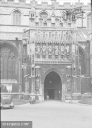 Gloucester, The Cathedral, Main Entrance 1949
