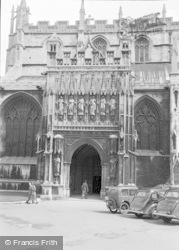 Gloucester, The Cathedral, South Porch 1950