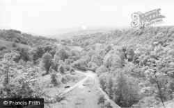Glyn Neath, View From Dinas Rock c.1960