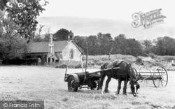 Glyn Neath, Working Horse By Aberpergwm Church c.1955