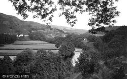 Glyndyfrdwy, River Dee, Looking East c.1955