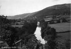 Glyndyfrdwy, River Dee Looking West c.1955