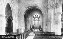 Gnosall, Church Of St Lawrence Interior 1899