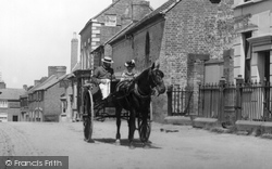 Gnosall, Horse And Cart 1899
